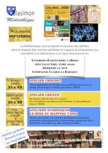 Octobre à la bibliothèque de Blasimon : Concert, ateliers et élections