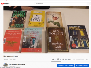 Découvrez votre prochaine lecture sur la chaîne YouTube de la Graineterie Médiathèque.